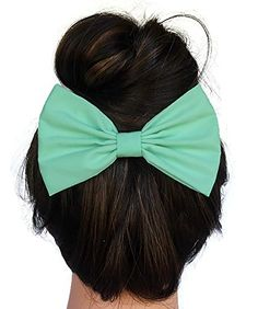 048562ae2 Mint Hair Bow Clip Handmade By Sweet in the City Sweet in the City http: