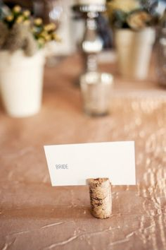 cork name card holder #upcycled