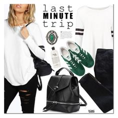 """""""Last Minute Trip"""" by mada-malureanu ❤ liked on Polyvore featuring Pierre Balmain, adidas Originals, philosophy, lastminutetrip, yoins, yoinscollection and loveyoins"""