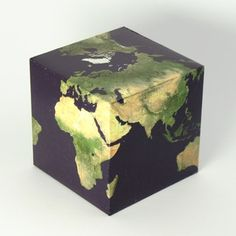 Cubic paper pseudoglobe