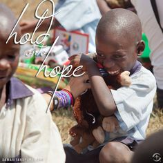 Hold onto hope.  Operation Christmas Child Boxes