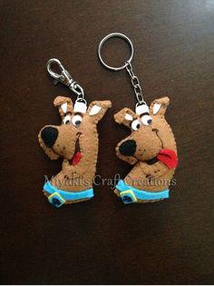 Scooby Doo felt keychain. Felt Crafts. Miyuki´s Craft Creations.