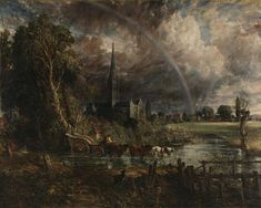 John Constable Salisbury Cathedral from the Meadows painting is shipped worldwide,including stretched canvas and framed art.This John Constable Salisbury Cathedral from the Meadows painting is available at custom size. Landscape Art, Landscape Paintings, John Constable Paintings, Carl Friedrich, English Romantic, Art Du Monde, Salisbury Cathedral, National Gallery, Oil Painting Reproductions