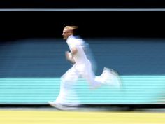 England's Stuart Broad on his run-up at the SCG in Sydney, Australia