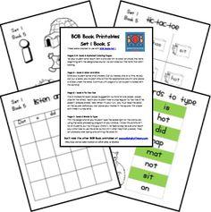 book 1 set 5 Bob book worksheets