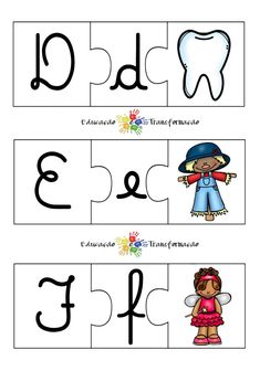 Blog Educação e Transformação: 👍 Alfabeto: quebra-cabeça Fictional Characters, Interactive Activities, Literacy Activities, Alphabet Games, Cursive Alphabet, Geography Activities, Classroom, Lyrics, Fantasy Characters