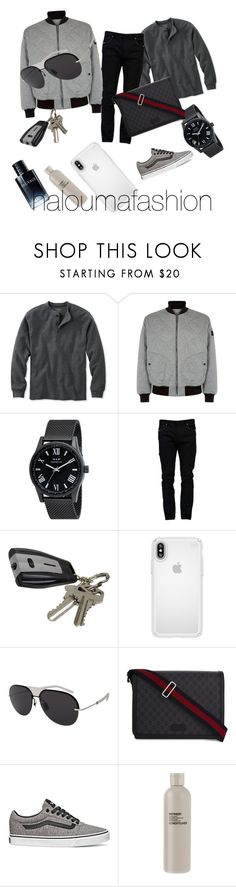 """men"" by haloumafashion ❤ liked on Polyvore featuring L.L.Bean, Burberry, Valentino, Speck, Christian Dior, Gucci, Vans, Aromatherapy Associates, men's fashion and menswear"