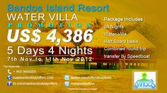 Bandos Island Resort ****  Special Water Villa Promotion  http://www.maldivesholidayoffers.com/resorts/bandos/special_offers.php