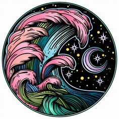 [New] The 10 Best Art Today (with Pictures) - The waves of space. Arte Alien, Psychedelic Drawings, Wale, Retro Logos, Photo Wall Collage, Moon Art, Vinyl Art, Cute Wallpapers, Art Pictures