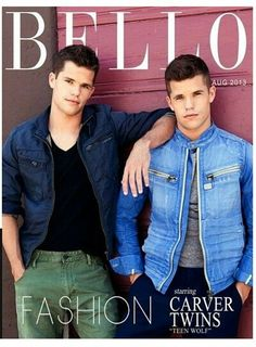 Charlie Carver and Max Carver From 'Teen Wolf' Max Carver, Max And Charlie Carver, Carver Twins, Teen Wolf Twins, Teen Wolf Mtv, Teen Wolf Cast, Teen Boys, Sterek, Cover Boy