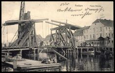 Blick auf die Peene Brücke in Anklam