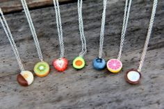 Most popular tags for this image include: fruit, necklace, jewelry and cute Bff Necklaces, Best Friend Necklaces, Friendship Necklaces, Cute Necklace, Friend Jewelry, Fimo Kawaii, Polymer Clay Kawaii, Polymer Clay Charms, Polymer Clay Jewelry