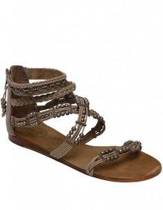 Ash Movida Beaded Multi Strap Sandals