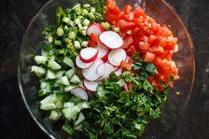 Ingredients for Mediterranean Fattoush Salad Recipe