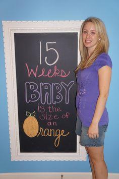 Pregnancy chalkboard 15 Weeks