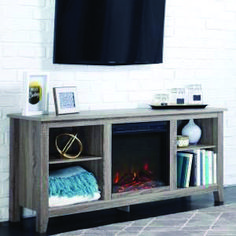 Remarkable rent a center fireplace tv stand exclusive on homeeideas.com Tv Stand With Fireplace Insert, Electric Fireplace Tv Stand, Fireplace Inserts, Electric Fireplaces, Farmhouse Fireplace, Tv Fireplace, Fireplace Ideas, Rustic Farmhouse, Swivel Tv Stand