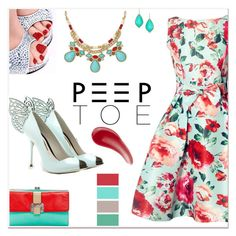 """Peep-Toe Pumps: Show Your Gorgeous Pedicure!"" by delucia ❤ liked on Polyvore featuring Sophia Webster, Gemma Simone, Rebecca Minkoff, TheBalm, peeptoe, peeptoepumps and showoffyourpedicure"