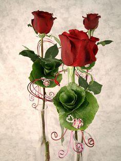 Valentine's Day Bejeweled Bud Vases by Flower Factor, via Flickr