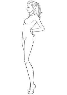 Fashion Figure Template #38  http://www.idrawfashion.com/croquis/side-view/figure-template-38/
