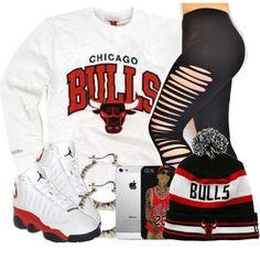 """~ Chicago Bulls ~"" by mindlesscupkake421 on Polyvore"