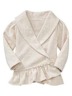 baby girl shawl-collar ruffle jacket, gap.