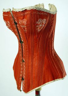 American corset, 1880s, cotton. Accession Number C.I.48.48. The Costume Institute at The Metropolitan Museum of Art.