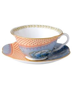 Wedgwood, Blue Peony Cup and Saucer