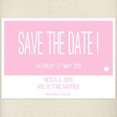 fun pale pink, blush, Save the date card, £1.20, #savethedate
