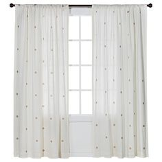 Give any room in your house a gentle, warm glow with the Nate Berkus Metal Window Panel. The 100% cotton weave provides complete privacy while deli...