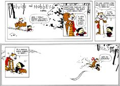 CALVIN AND HOBBES - LAST STRIP. Bill Watterson manages to sum up the entirety of Calvin and Hobbes in this single strip. Dec 31, 1995.