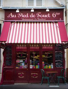 Au Pied de Fouet, Adorable and delicious neighborhood restaurant, Paris, France Saint Benoit, Neon Light, Storefront Signs, Paris Cafe, Paris Paris, Front Windows, Shop Windows, Cafe Shop, Shop Fronts