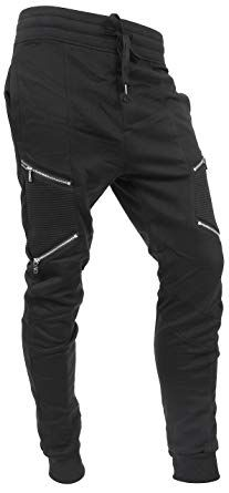 Hat and Beyond Mens Jogger Pants Biker Slim Fit Casual Fleece Active  Elastic at Amazon Men s Clothing store  23330144b7ff