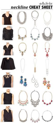 A little help for choosing the right necklace for your neckline! (This was created by a lovely stylist out there somewhere. If it was you please let me know- it's fantastic!!)