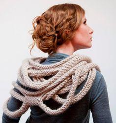 Medusa Loop Scarf - hand knitting pattern PDF on Etsy