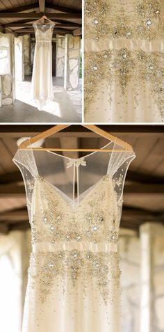 Details from Desiree Hartsock's rustic romantic wedding, including her custom made Maggie Sottero wedding dress!