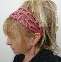 Crochet Trellis Head Band I want to try and make this !