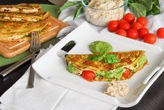 Pesto Ricotta Omelets with CherryTomatoes