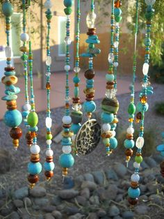 Glass Beaded Windchime by SillyHobbies on Etsy, $75.00