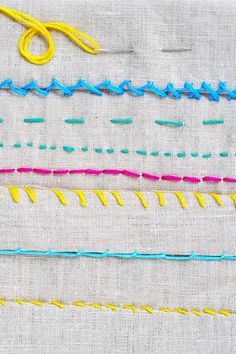 There are many amazing DIY projects that require a bit of sewing, but that doesn't mean you have to run right out and purchase a sewing machine! Much can be done by hand, so we've rounded up six common stitches that can be used on a myriad of projects for home decor, complete with step-by-step photo tutorials.