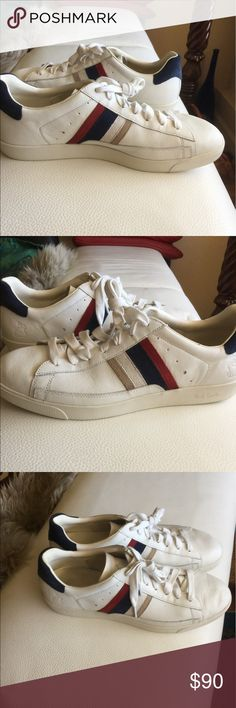 Paul Smith mans leather snickers Size 11 Leather snickers with synthetic textile lining. Very comfortable Only worn once Not seen that wore ( see picture) paul Smith Shoes Sneakers
