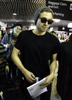 Luke at the airport in Brisbane