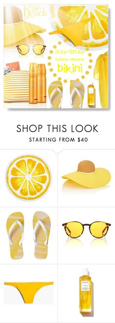 """""""Yellow Peril..."""" by desert-belle ❤ liked on Polyvore featuring Nordstrom Rack, Wella, Eugenia Kim, Oliver Peoples, Madewell and Rodin"""