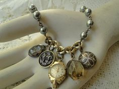 Bits and Pieces Gray Pearl Watch Smoky Quartz by renewedheirlooms, $89.00