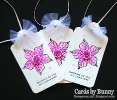 Taylored Expressions- Peaceful Poinsettia Sugar Pea Designs Gift Tag die Simon Says Stamps- Tiny Words Christmas stamps Pretty Pink Po. Christmas Cards, Christmas Ornaments, Poinsettia, Pretty In Pink, Gift Tags, Bunny, Holiday Decor, Gifts, Christmas E Cards