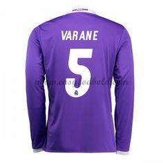 Fodboldtrøjer La Liga Real Madrid 2016-17 Varane 2 Udebanetrøje Langærmede