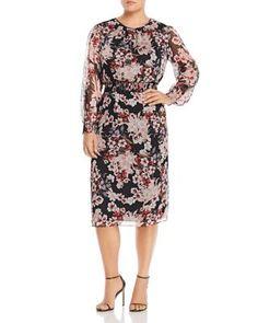 366e68f54dd VINCE CAMUTO Plus Timeless Blooms Midi Dress