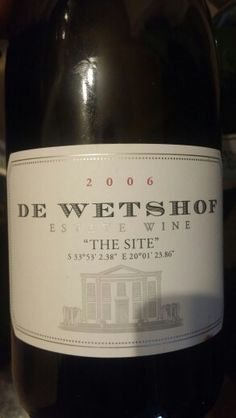 De Wetshof The Site Robertson Chardonnay 2006 93 Points Sommelier #MiguelChan #SouthAfrica #Wine