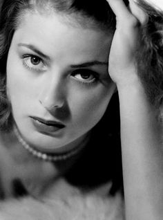 Ingrid Bergman, 1939, photo by John Engstead. Bergman had just arrived in Hollywood under contract to David O. Selznik.