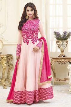 Stylish Pink Color Georgette Salwar Kameez