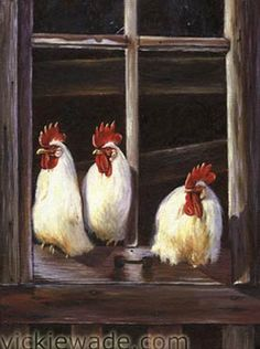 Art - Chickens - by Vickie Wade